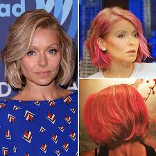 hair color kelly ripa uses kelly ripa s pink hair makeover on live with michael and kelly