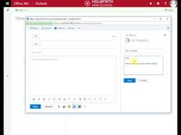 creating email templates in office 365 youtube
