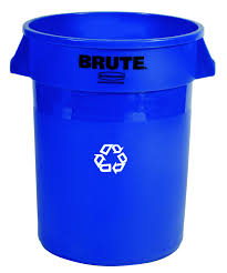 Tall Trash Can by Rubbermaid 20 Gallon Brute Round Recycling Container 2620 73