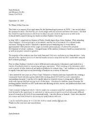 epidemiologist cover letter biostatistics epidemiology