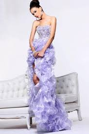 Light Blue High Low Dress Light Purple High Low Prom Dresses Holiday Dresses