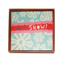 boxed cards let it snow snowflake boxed cards 10 peggyoliver