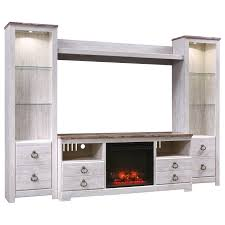 Entertainment Center Design by Signature Design By Ashley Willowton Entertainment Center With