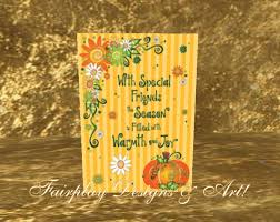 second marketplace jumbo thanksgiving card for special friend