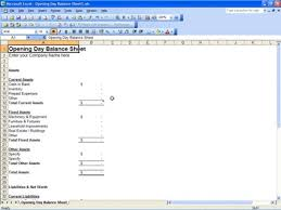 Opening Balance Sheet Template Opening Day Balance Sheet Opening Day Balance Sheet Template