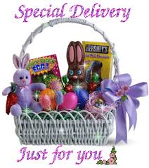 easter baskets delivered special delivery easter basket happy easter animation