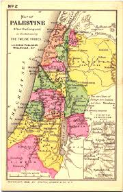 map of be map of ancient israel canaan after the conquest by the 12 tribes