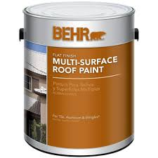 behr 1 gal white reflective flat multi surface roof paint 06501