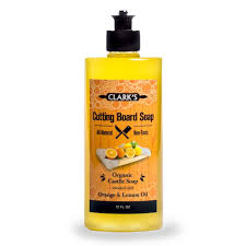 amazon com clark s cutting board soap 12oz enriched with amazon com clark s cutting board soap 12oz enriched with lemon orange oils organic 100 natural butcher block cleaner kitchen dining