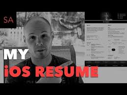 my ios developer resume example and review youtube