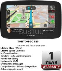 Tomtom Map Updates New Tomtom Go 520 Satnav Gps With Wifi Lifetime World Maps