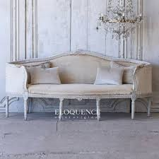 the bella cottage shabby chic style 1790 antique gustavian daybed