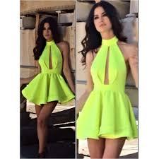 neon yellow party dress best dress ideas pinterest backless