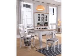 country style extendable solid oak dining table and four chairs