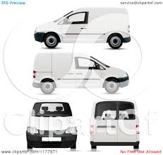 volkswagen bus clipart clipart of 3d white vw kombi vans at different views on white