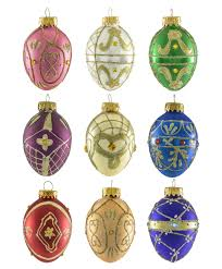 timeless treasures egg ornament set tree classics