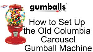 how to set up the old columbia carousel gumball machine youtube