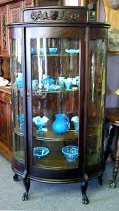 antique curio cabinet with curved glass replacement curved glass for curio cabinet china cabinet glass