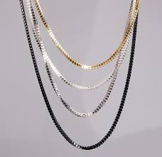 women necklace accessories images H hyde fashion gold silver black 3 color long chain necklace jpg