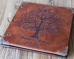 personalized leather photo album photo album etsy