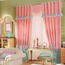 romantic kids curtains pink quality chenille fabric