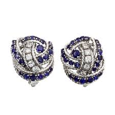 diamond earrings sale and co sapphire diamond earrings for sale at 1stdibs