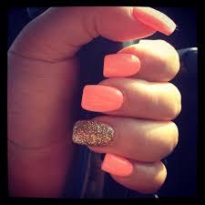 love this orange peach color makeup nails pinterest peach