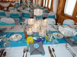 malibu blue and silver wedding decorations pc mixed color