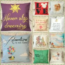 diy home decor gifts disney princess villian toy quotes cushion cover pillow case home