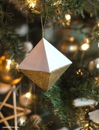 Diy Paper Christmas Decorations Paper Geode Christmas Ornaments Lia Griffith