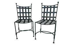 Black Rod Iron Patio Furniture Wrought Iron Patio Chairs