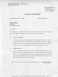 Confirmation Of Appointment Letter Sample Reliance Offer Letter Know How Government Information