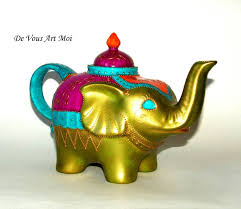 porcelain elephant boheme collection hand painted porcelain elephant teapot