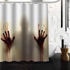 Shower Curtain 36 X 72 Aliexpress Com Buy New Arrival Walking Dead Creepy Bloody Hands