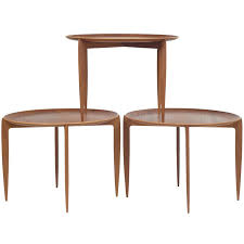 fold away tray table set of fold away tray top side tables from fritz hansen for sale at