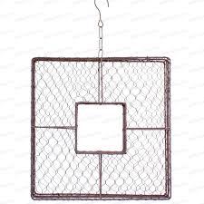 grillage a poule pour meuble cadre carré en grillage à poule 40x40cm loisirs créatifs