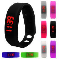 led rubber bracelet images Resuli womens mens rubber led watch date sports bracelet digital jpg