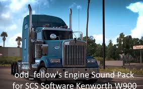 kenworth t900 odd fellow u0027s engine sound pack for kenworth w900 by scs american