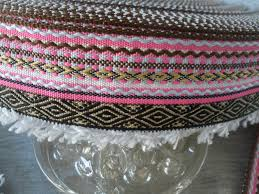 tribal woven ribbon with micro loop fringe 1 7 8