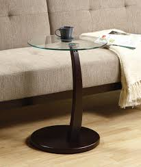 Glass Top Accent Table Round Accent Table With Glass Top And Cappuccino Base Round Designs