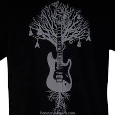 Tree Shirt Guitar Tree Shirt Black Artistic Guitar T Shirts To Buy