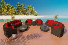 Eco Friendly Sectional Sofa Wicker Viro Fiber Sofa Furniture Set 4