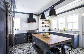 where to buy blue cabinets kitchen room dark blue cabinet white granite countertop wood top