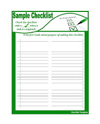 free checklist to do list templates excel word u2013 template section