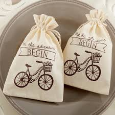 muslin favor bags let the adventure begin muslin favor bags set of 12 organza