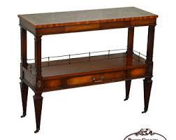 Mahogany Console Table Vintage Narrow Console Table Etsy