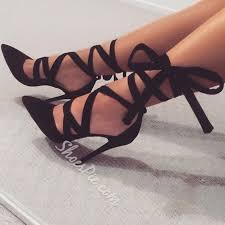 ribbon heels shoespie date out black ribbon lace up stiletto heels shoespie