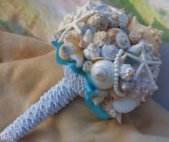seashell bouquet seaside bouquet malibu blue seaglass starfish and seashell bouquet