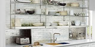 Kitchen Shelf Ideas Shelf Ideas For Large Kitchen With Ceramic Tile Backsplash