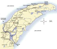 up michigan map map showing the location of the keweenaw peninsula in the